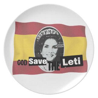 God save the queen Leti Plato Para Fiesta