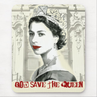 God Save the Queen Mouse Pad