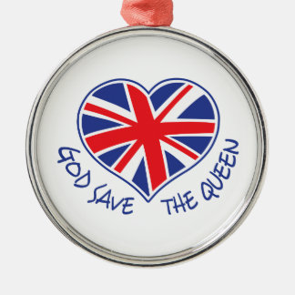 GOD SAVE THE QUEEN CHRISTMAS ORNAMENT