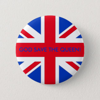 GOD SAVE THE QUEEN! PINBACK BUTTON