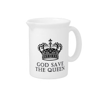 God Save The Queen Beverage Pitcher