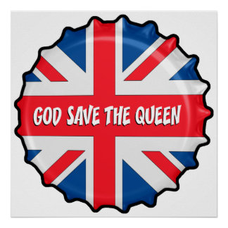 GOD SAVE THE QUEEN PÓSTER