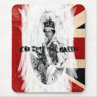 God Save the Queen punk/grunge Mouse Pad
