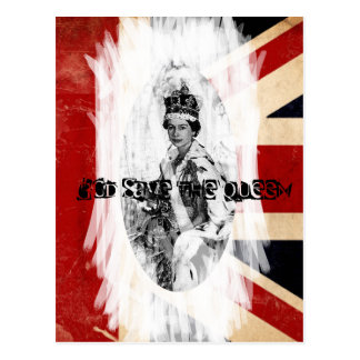 God Save the Queen punk/grunge Post Card