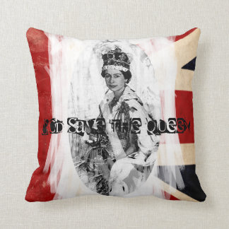 God Save the Queen punk/grunge Throw Pillow