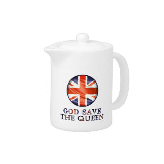 God Save The Queen Teapot