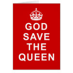 God Save the Queen Tshirts, Bags, Gifts Greeting Cards