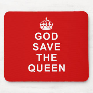 God Save the Queen Tshirts, Bags, Gifts Mouse Pads
