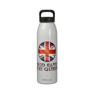 God Save The Queen Reusable Water Bottles