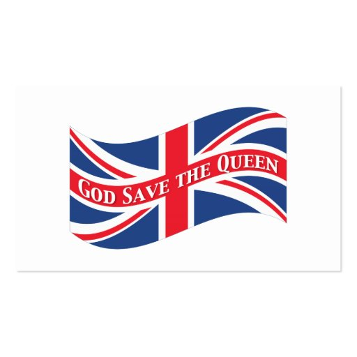 God Save the Queen with Union Jack Business Card Templates
