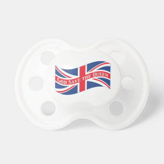 God Save the Queen with Union Jack Pacifier