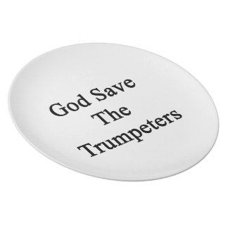 God Save The Trumpeters Party Plate