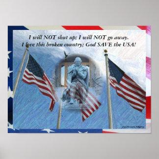God Save the USA Print