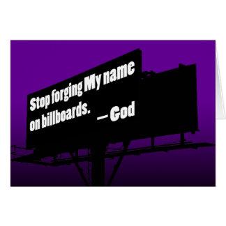 God Says Quit It Billboard card