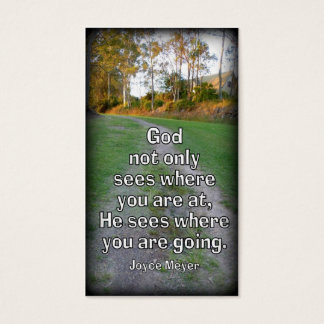 """""""God Sees Where We Are Going"""" Handout Card"""