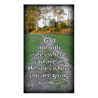 """""""God Sees Where We Are Going"""" Handout Card Business Card"""