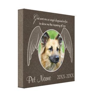 God Sent an Angel Pet Sympathy Custom Canvas Print
