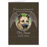 God Sent an Angel Pet Sympathy Custom Greeting Card