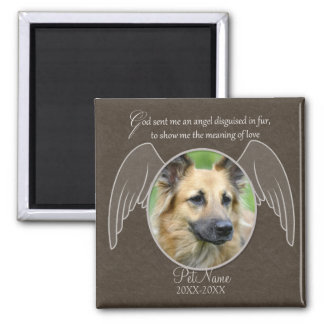God Sent an Angel Pet Sympathy Custom Magnet