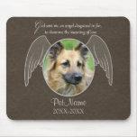 God Sent an Angel Pet Sympathy Custom Mouse Pads