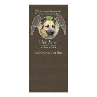 God Sent an Angel Pet Sympathy Custom Rack Card
