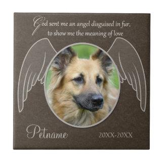 God Sent an Angel Pet Sympathy Custom Tiles