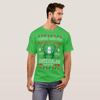 God Sent Guatemalan Wife Christmas Ugly Sweater