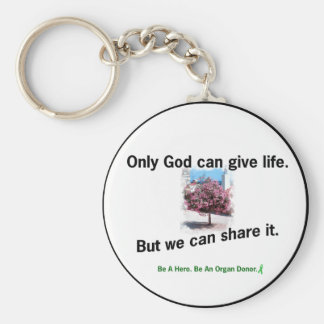God Sharing Life Basic Round Button Keychain