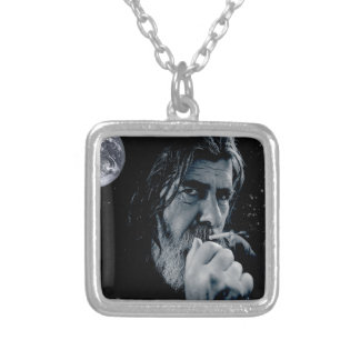 GOD Smoking Christian WARNING Atheist Dark Earth Silver Plated Necklace