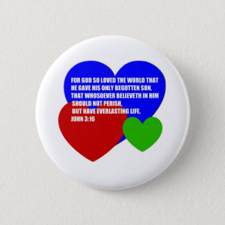 God So Loved the World Bible Verse Pinback Button
