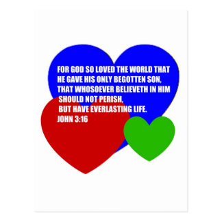 God So Loved the World Bible Verse Postcard