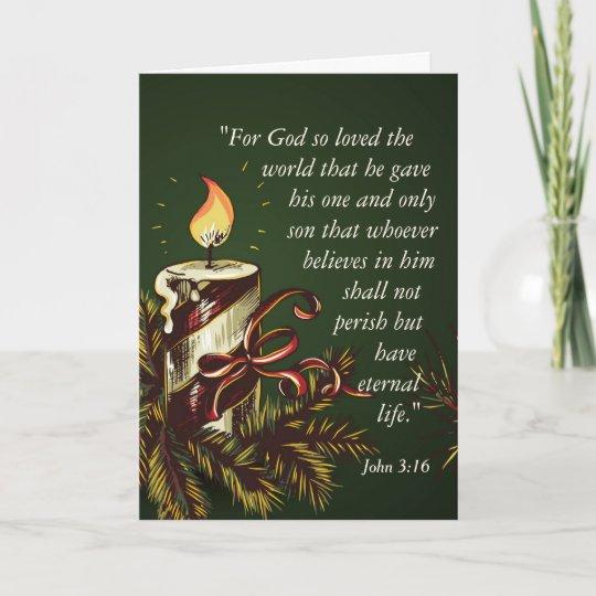 God So Loved The World John 316 Christmas Holiday Card