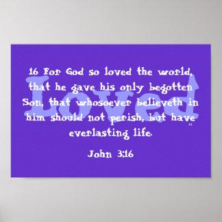 God so loved the world poster