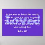 God so loved the world print