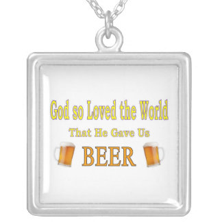 GOD SO LOVED THE WORLD SQUARE PENDANT NECKLACE