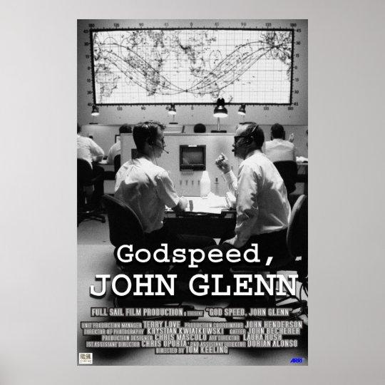 God Speed John Glenn Poster