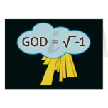 God = Square Root of -1 Cards