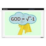 God = Square Root of -1 Laptop Skin