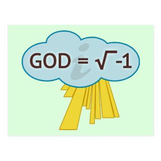 God = Square Root of -1 Postcards