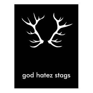 god stag cardz postcard