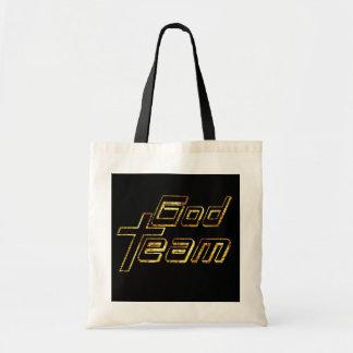 God Team or fond noir Tote Bag