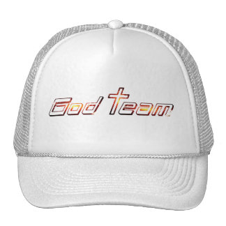 God Team Orange Trucker Hat
