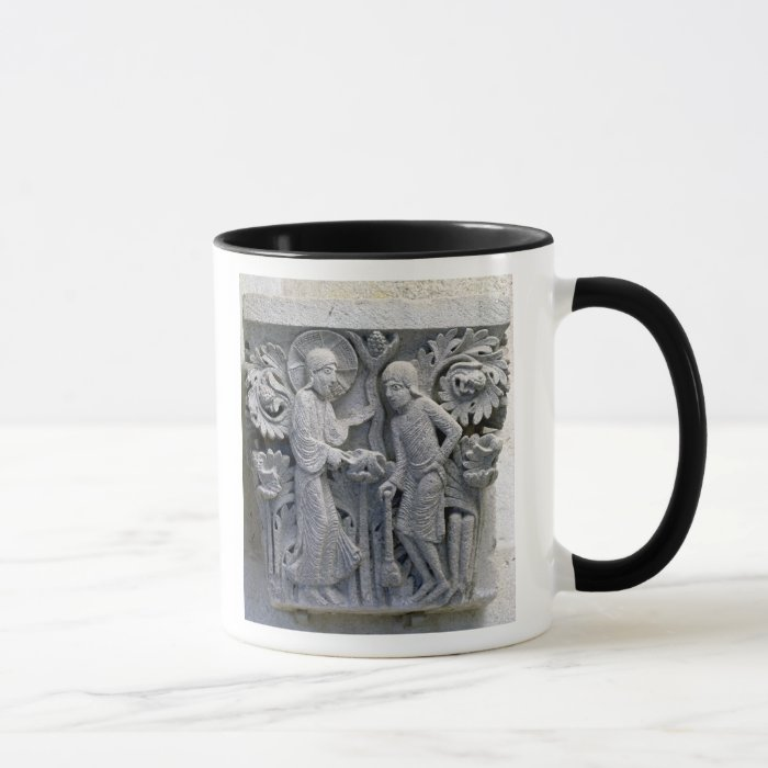 God telling Adam to work the land Mug