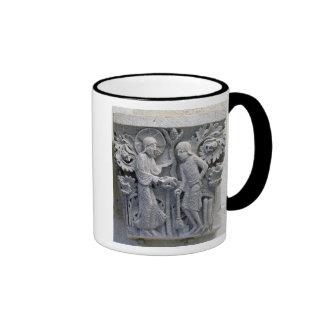 God telling Adam to work the land Coffee Mugs
