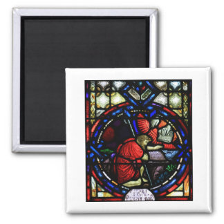 God Tells Moses to Go to Egypt Stained Glass Art Magnet