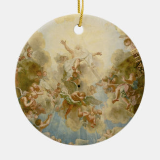 God the Father Almighty by Antoine Coypel Double-Sided Ceramic Round Christmas Ornament