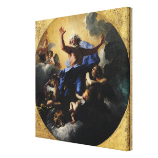 God the Father Carried by Angels Canvas Print
