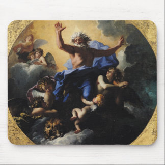 God the Father Carried by Angels Mouse Pad