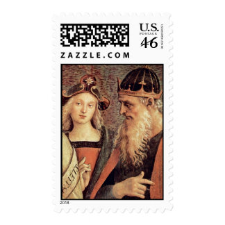 God The Father Of Prophet And Sibyl Detail Stamp