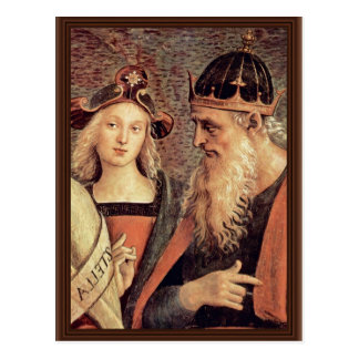God The Father Of Prophet And Sibyl Detail Post Card